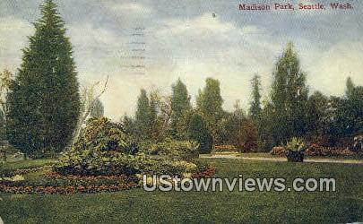 Madison Park - Seattle, Washington WA Postcard