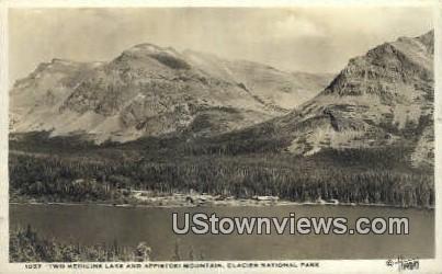 Real Photo - Appistoki Mountain - Glacier National Park, Washington WA Postcard