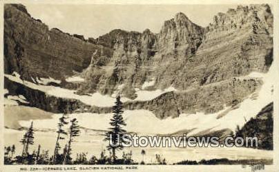 Real Photo - Iceberg Lake - Glacier National Park, Washington WA Postcard