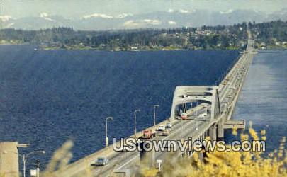 Lake Washington Floating Bridge - Seattle Postcard
