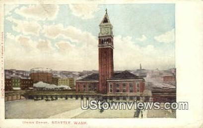 Union Depot - Seattle, Washington WA Postcard