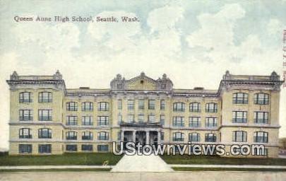 Queen Anne High School - Seattle, Washington WA Postcard