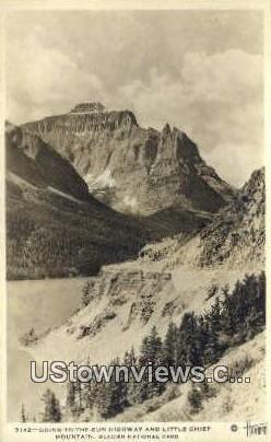 Little Chief Mountain - Glacier National Park, Washington WA Postcard