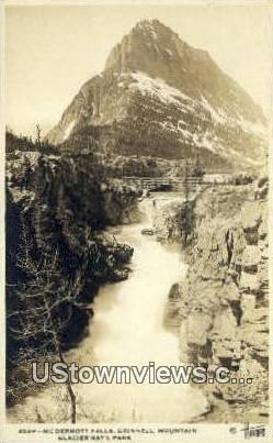 Real Photo - Mc Dermott Falls - Glacier National Park, Washington WA Postcard
