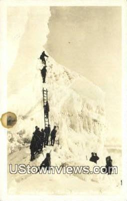 Real Photo - Climbing Gibralter - Mt. Rainier National Park, Washington WA Postcard