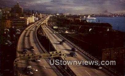 Alaska Way Viaduct - Seattle, Washington WA Postcard