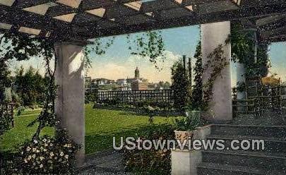 Rose Garden, Hotel Lincoln - Seattle, Washington WA Postcard