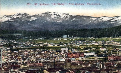 Mt. Spokane - Washington WA Postcard