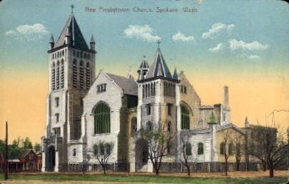 New Presbyterian Church - Spokane, Washington WA Postcard