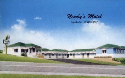 Newby's Motel - Spokane, Washington WA Postcard