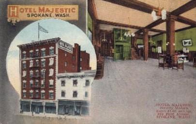 Hotel Majestic - Spokane, Washington WA Postcard