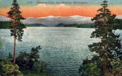 Newman Lake - Spokane, Washington WA Postcard