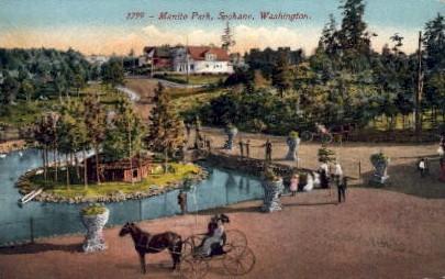 Manito Park - Spokane, Washington WA Postcard