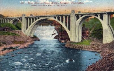 New Monroe Street Bridge - Spokane, Washington WA Postcard