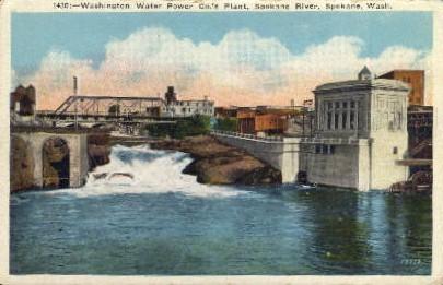 Washington Water Power Co.'s Plant - Spokane Postcard