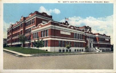 North Central High School - Spokane, Washington WA Postcard