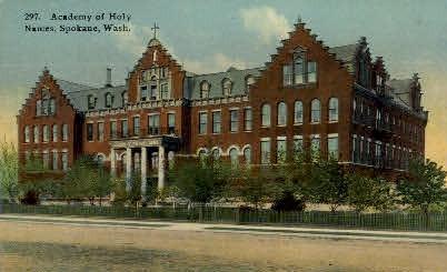 Academy fo Holy Names - Spokane, Washington WA Postcard