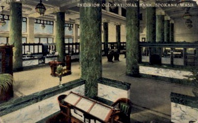 Old National Bank - Spokane, Washington WA Postcard