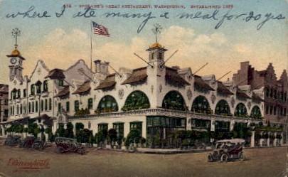 Spokane's Great Restaurant - Washington WA Postcard