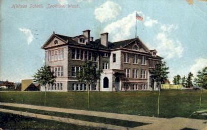 Holmes School - Spokane, Washington WA Postcard