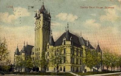 County Court House - Spokane, Washington WA Postcard