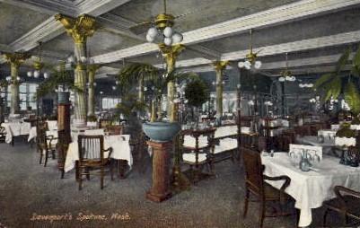 Davenport's Restaurant - Spokane, Washington WA Postcard