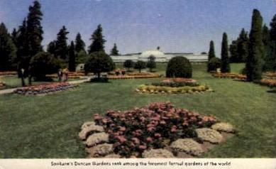 Duncan Gardens - Spokane, Washington WA Postcard