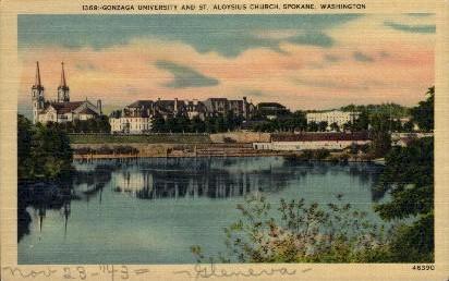 St. Aloysius Church - Spokane, Washington WA Postcard