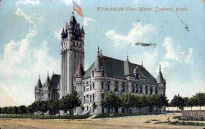 Court House - Spokane, Washington WA Postcard