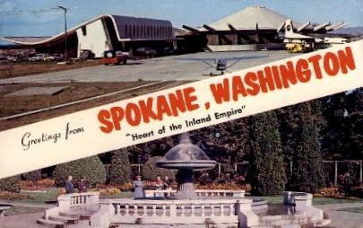 Greetings From - Spokane, Washington WA Postcard