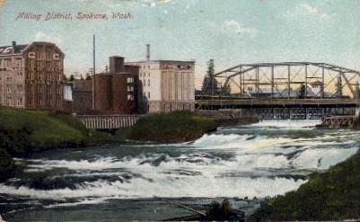 Milling District - Spokane, Washington WA Postcard