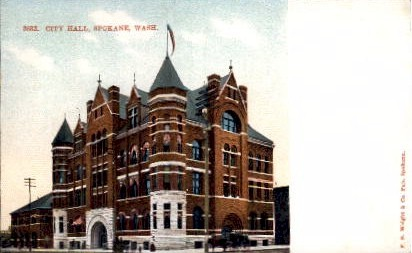 City Hall - Spokane, Washington WA Postcard