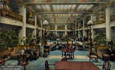 Davenport Hotel - Spokane, Washington WA Postcard