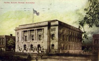 Federal Building - Spokane, Washington WA Postcard