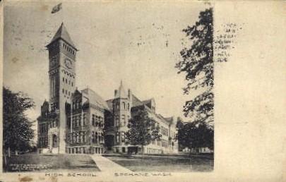 High School - Spokane, Washington WA Postcard