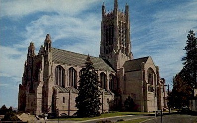 Cathedral of St. John the Evangelist - Spokane, Washington WA Postcard