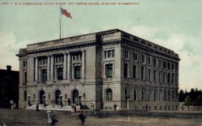 U.S. Post Office - Spokane, Washington WA Postcard