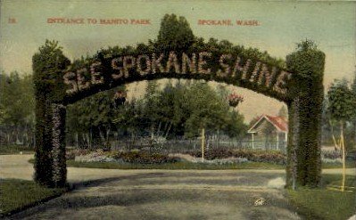 Manito Park - Spokane, Washington WA Postcard