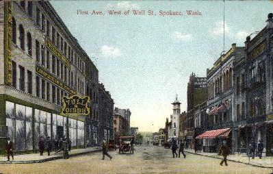 First Avenue - Spokane, Washington WA Postcard