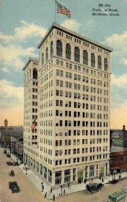 Old National Bank - Spokane, Washington WA Postcard