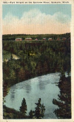 Fort Wright - Spokane, Washington WA Postcard