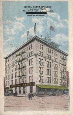 Hotel Coeur D' Alene - Spokane, Washington WA Postcard