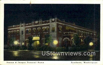 Hazen & Jaeser Funeral Home - Spokane, Washington WA Postcard