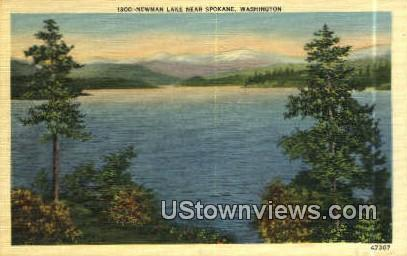 Newman Lake - Spokane, Washington WA Postcard