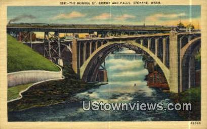 Monroe Street Bridge - Spokane, Washington WA Postcard