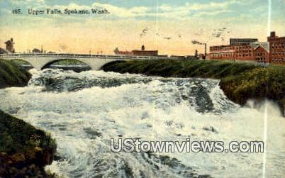 Upper Falls - Spokane, Washington WA Postcard