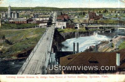 Monroe Street Bridge - Spokane, Washington WA Postcard