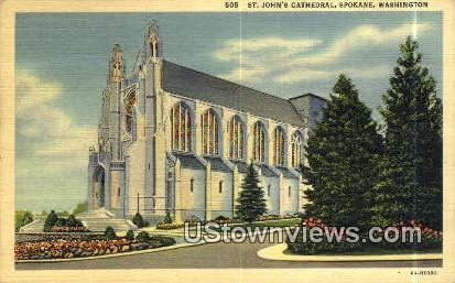 St Johns Cathedral - Spokane, Washington WA Postcard