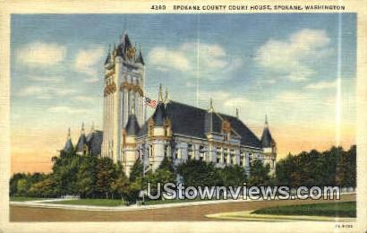 Spokane County Court House - Washington WA Postcard