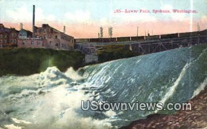 Lower Falls - Spokane, Washington WA Postcard